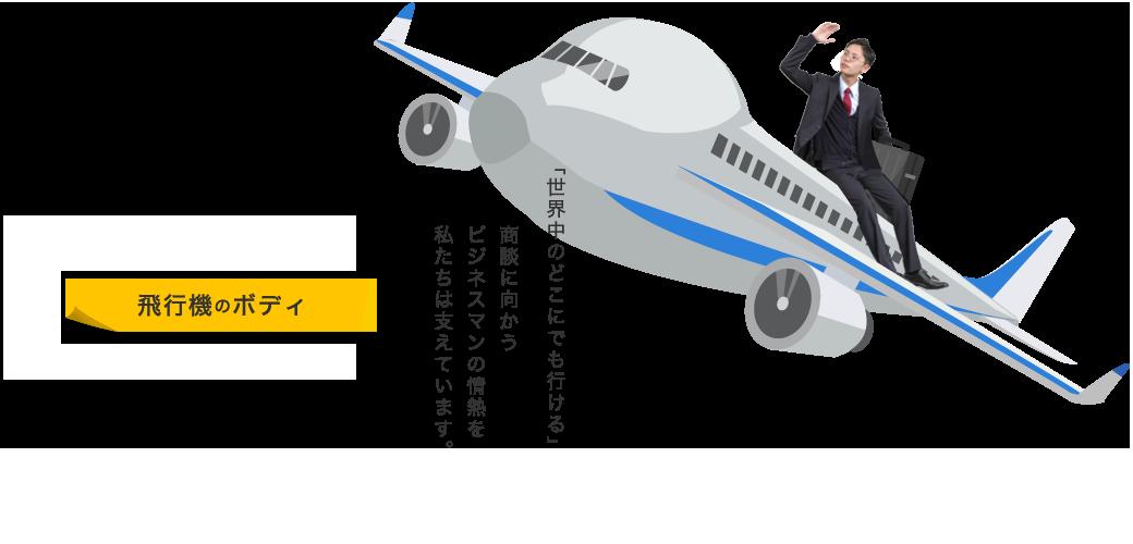 飛行機のボディ